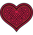 celtic heart with shamrock knot vector image vector image