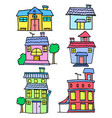 collection stock of house colorful cartoon vector image vector image