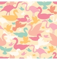 Colorful birds silhouettes seamless pattern vector image vector image