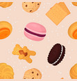 cookie and biscuits baking pastry and baked vector image vector image