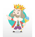 cute cartoon old king vector image vector image