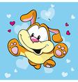cute happy dog vector image vector image