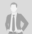 default placeholder businessman half-length portr vector image