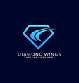diamond template design vector image vector image