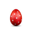 Easter egg 3d icon red color egg isolated white