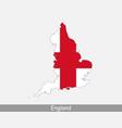england map flag vector image