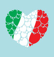 flag of italy in a heart shape vector image