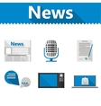 Flat icons for news vector image