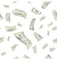 flying us dollars seamless pattern vector image