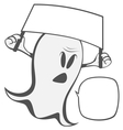 Funny freaky ghost vector image vector image