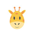 giraffe kids cartoon vector image vector image