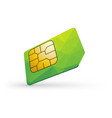 green sim card vector image