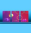 happy diwali festival of lights indian set cards vector image