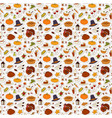 happy thanksgiving day seamless pattern vector image vector image