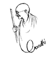 India background for Gandhi Jayanti vector image vector image