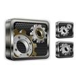 industrial gears vector image vector image