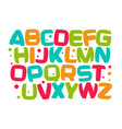 kids alphabet colorful cartoon font kid letters vector image