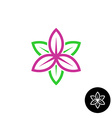 Leaves flower logo vector image vector image