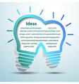Lightbulb ideas4 vector image vector image