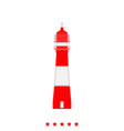 lighthouse it is icon vector image vector image