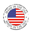 made in america flag grunge icon vector image