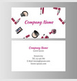 makeup artist business card vector image vector image