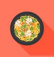 noodle icon vector image vector image