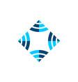 ornamental diamond logo template design eps 10 vector image vector image
