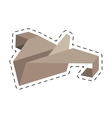 paper plane start up symbol cut line vector image