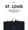 poster city skyline st louis flat style vector image vector image
