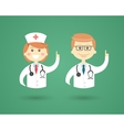 Professions - Doctor and Nurse vector image