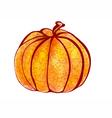 pumpkin polygonal design vector image vector image