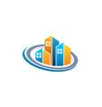 real estate circle homes logo symbol icon vector image