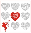 Red Hearts - Valentines day vector image vector image