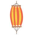 red orange hammock icon flat cartoon vector image