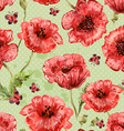 seamless texture with watercolor painting of vector image vector image