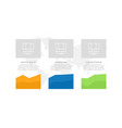 set blue and orange green elements vector image