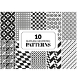 set seamless patterns vector image vector image