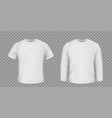 set white t-shirts isolated on a transparent vector image