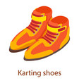 shoes sport icon isometric 3d style vector image