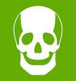 skull icon green vector image