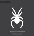 spider premium icon white on dark background vector image