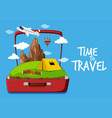 time to travel icon vector image