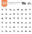Transport and Vehicle Solid Icon Set vector image vector image