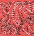 tropical plants abstract colors seamless living vector image