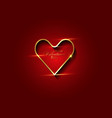 valentines day background with gold luxury heart vector image vector image