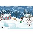 Winter village vector image vector image