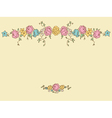 Card with drawing flowers vector image