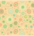 seamless doodle floral kids pattern vector image
