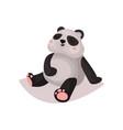 cute panda bear cub cartoon vector image